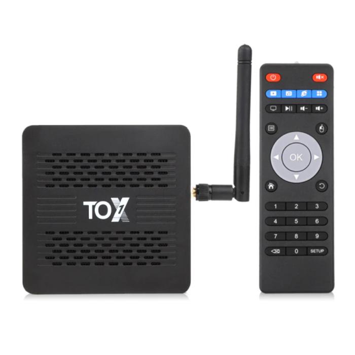 TOX1 TV Box Mediaspeler Android 9.0 Kodi - Bluetooth 4.2 - 4K - 4GB RAM - 32GB Opslagruimte