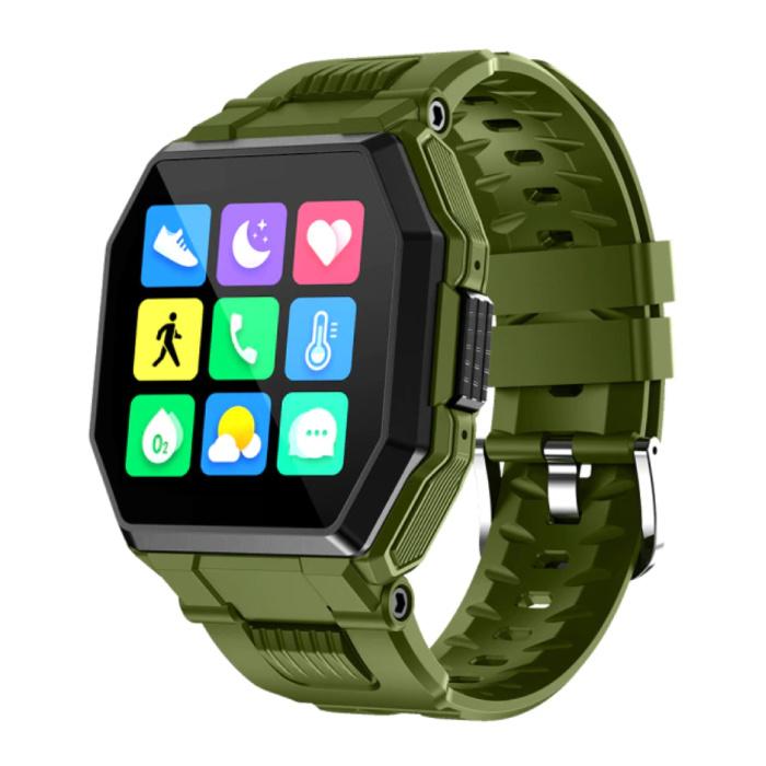 Montre intelligente S9 avec câble de charge magnétique - Montre de suivi d'activité sportive et de fitness avec bracelet en gel de silice iOS Android Vert
