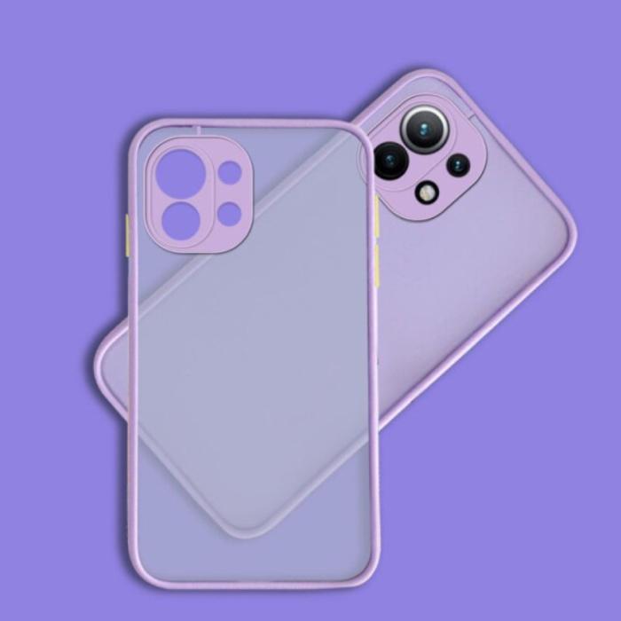 Xiaomi Poco M3 Pro Case with Frame Bumper - Case Cover Silicone TPU Anti-Shock Purple