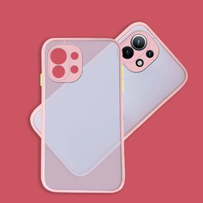 Xiaomi Mi 11 Lite Case with Frame Bumper - Case Cover Silicone TPU Anti-Shock Pink