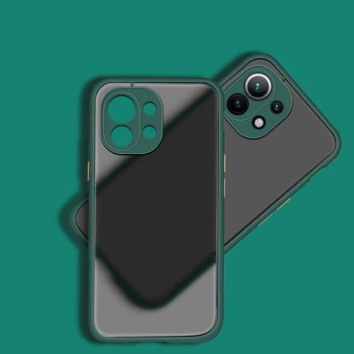 Xiaomi Poco M3 Pro Case with Frame Bumper - Case Cover Silicone TPU Anti-Shock Dark Green