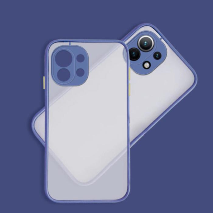 Xiaomi Poco M3 Case with Frame Bumper - Case Cover Silicone TPU Anti-Shock Dark Blue