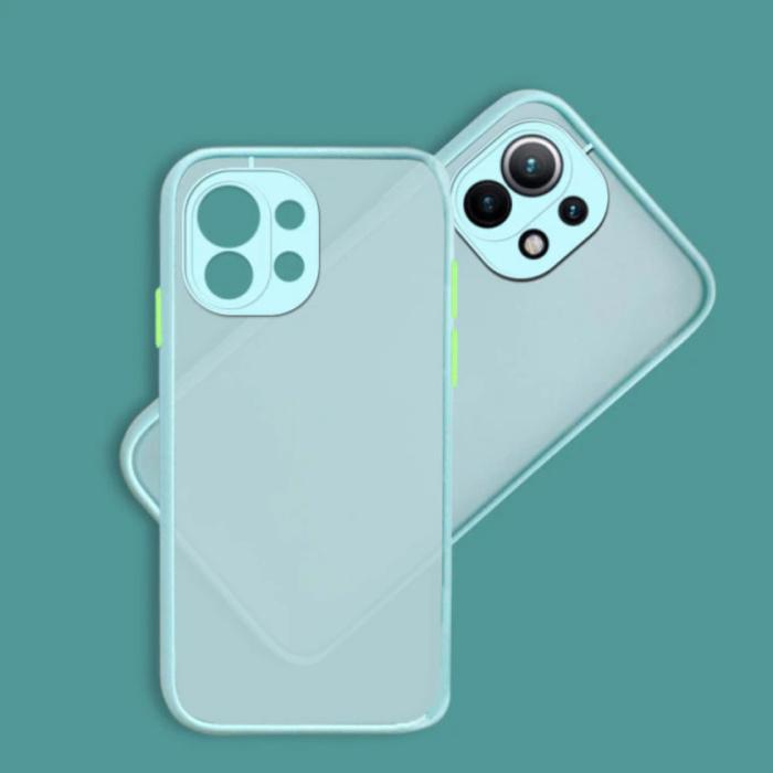 Xiaomi Poco M3 Hoesje met Frame Bumper - Case Cover Silicone TPU Anti-Shock Lichtblauw
