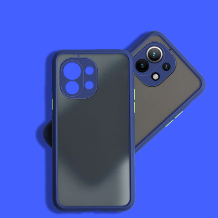 Xiaomi Poco M3 Pro Hoesje met Frame Bumper - Case Cover Silicone TPU Anti-Shock Blauw