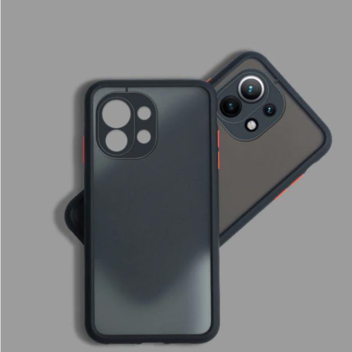 Xiaomi Poco M3 Hoesje met Frame Bumper - Case Cover Silicone TPU Anti-Shock Zwart