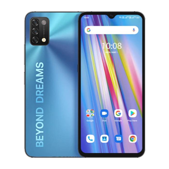 A11 Smartphone Mist Blue - Carte SIM débloquée - 4 Go de RAM - 128 Go de stockage - Triple caméra 16MP - Batterie 5150mAh - État neuf - Garantie 3 ans