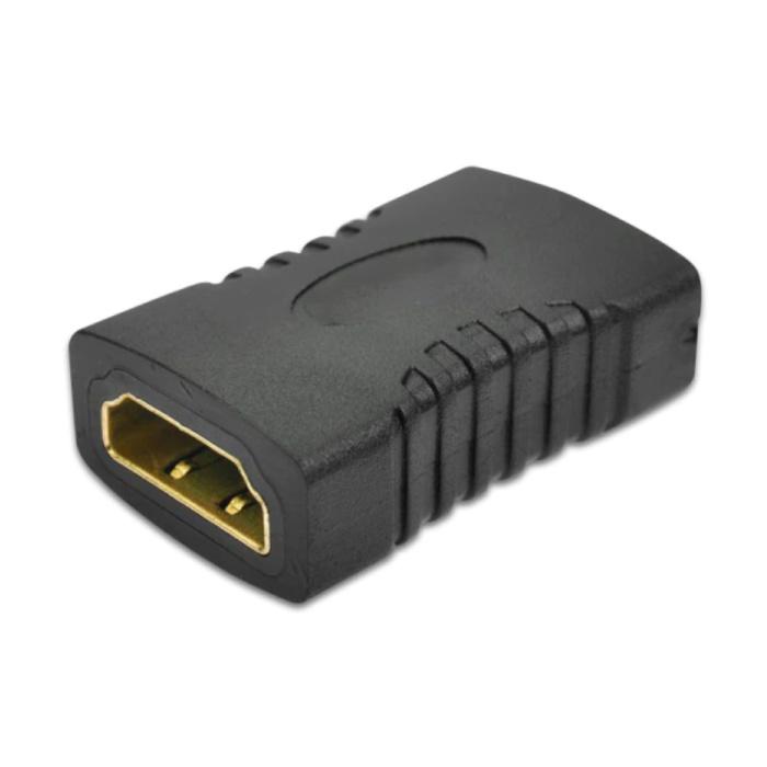 19-pin HDMI 2.0 Vrouwelijk naar HDMI 2.0 Vrouwelijk Koppelstuk Verleng Adapter Converter