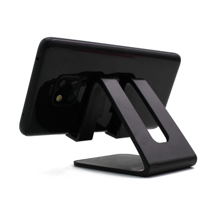 Support de bureau universel pour téléphone - Ouverture pour chargeur - Appel vidéo Support pour smartphone Support de bureau Noir