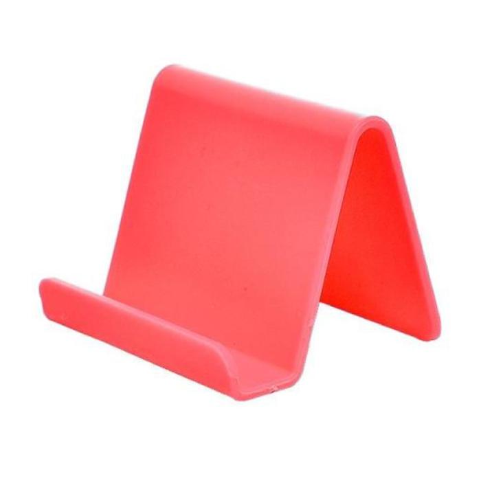 Universele Telefoonhouder Candy Bureau Standaard - Videobellen Smartphone Holder Desk Stand Rood