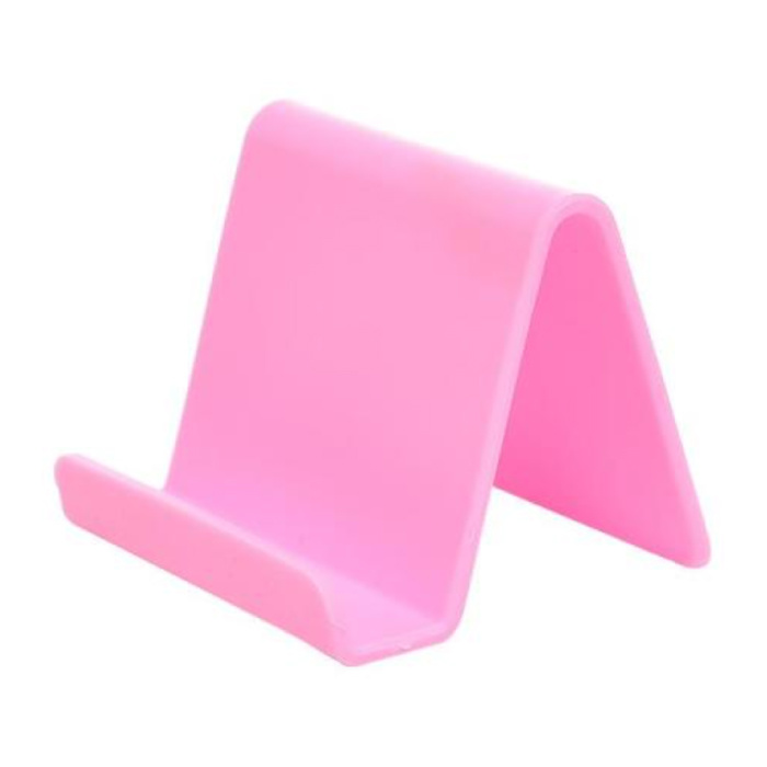 Support de téléphone universel Candy Desk Stand - Appel vidéo Support de smartphone Support de bureau Rose