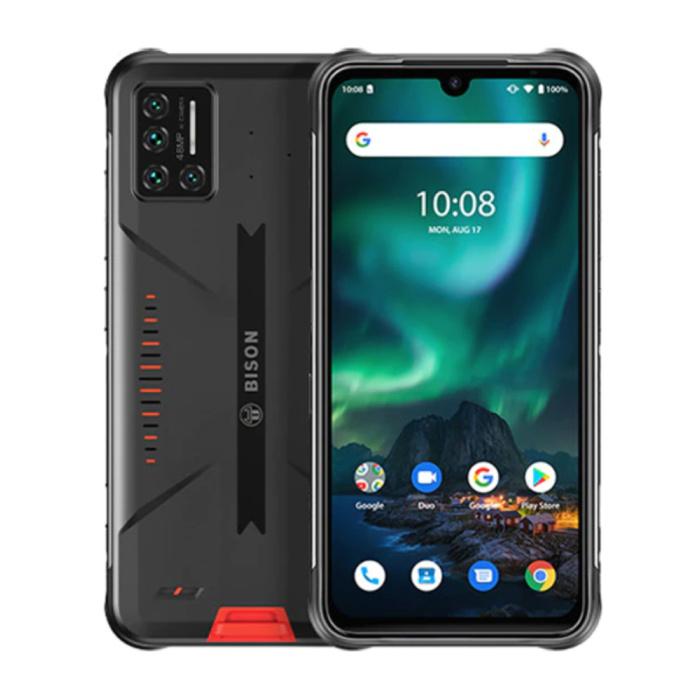 Bison Smartphone Lava Orange - Extérieur IP69K Etanche - Débloqué sans SIM - 6 Go de RAM - 128 Go de Stockage - Quad Camera 48MP - Batterie 5000mAh - Etat Neuf - Garantie 3 Ans