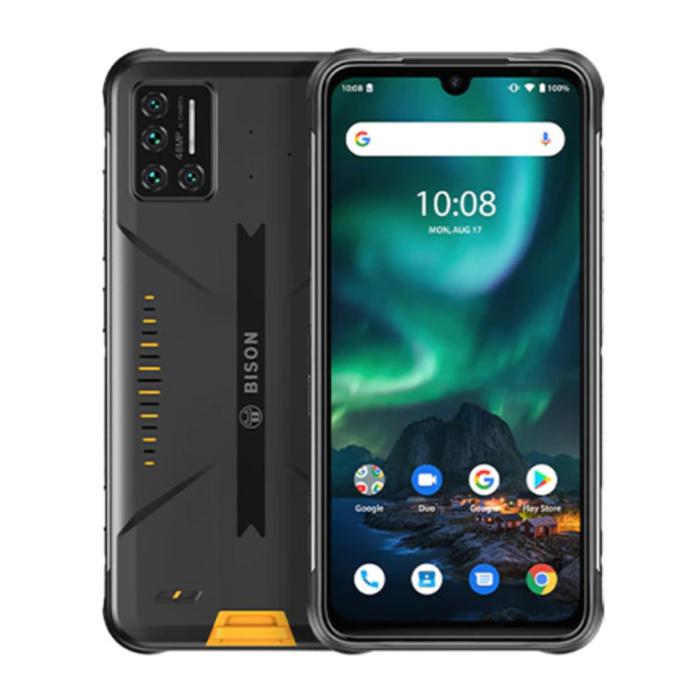 Bison Smartphone Cyber Yellow - Extérieur IP69K Etanche - Débloqué sans SIM - 8 Go de RAM - 128 Go de Stockage - Quad Camera 48MP - Batterie 5000mAh - Etat Neuf - Garantie 3 Ans
