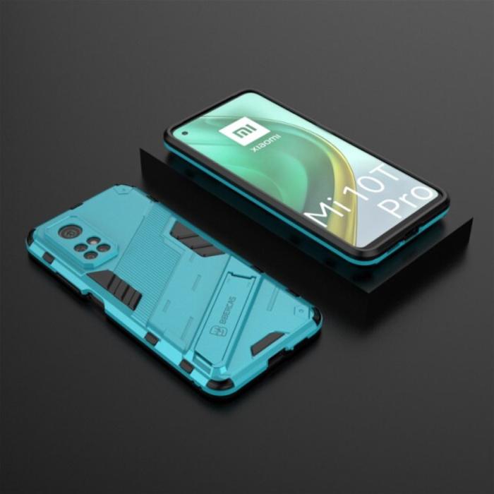 Coque Xiaomi Mi 10T Pro avec béquille - Housse antichoc Armor TPU Blue