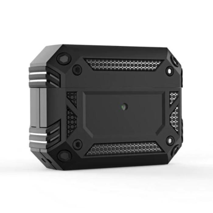 Shockproof Hoesje voor AirPods Pro - AirPod Case PC TPU Cover Skin - Zwart