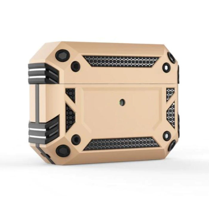 Shockproof Hoesje voor AirPods Pro - AirPod Case PC TPU Cover Skin - Goud