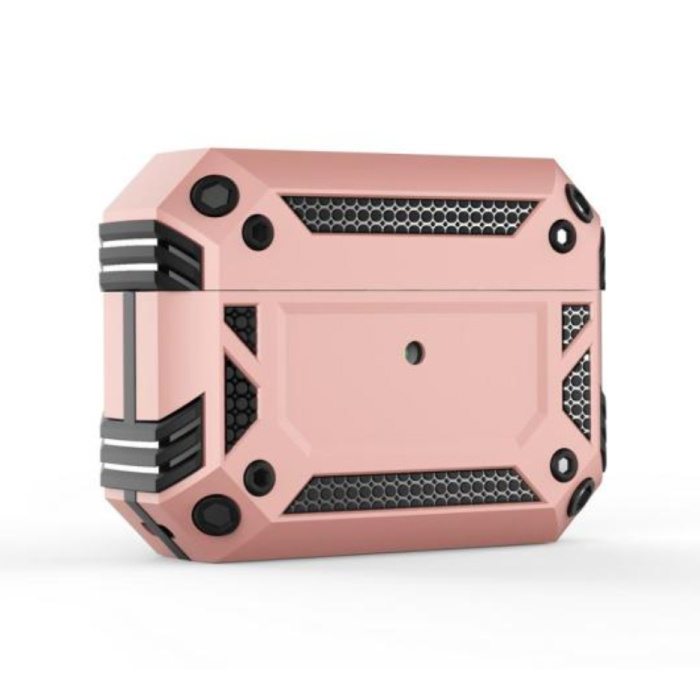 Shockproof Hoesje voor AirPods Pro - AirPod Case PC TPU Cover Skin - Roze