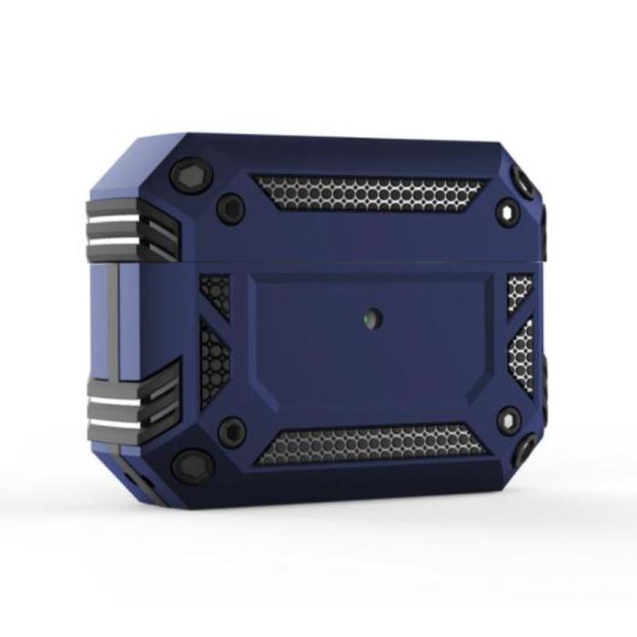 Étui antichoc pour AirPods Pro - AirPod Case PC TPU Cover Skin - Bleu