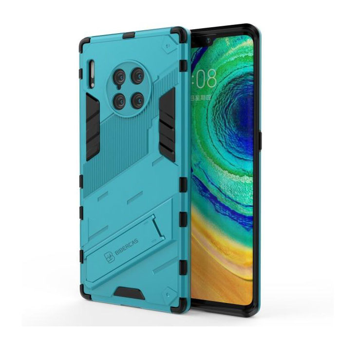 Xiaomi Mi 11 Pro Case with Kickstand - Shockproof Armor Case Cover TPU Blue