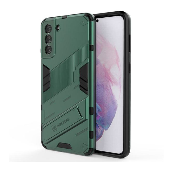 Xiaomi Mi 11 Lite Case with Kickstand - Shockproof Armor Case Cover TPU Green