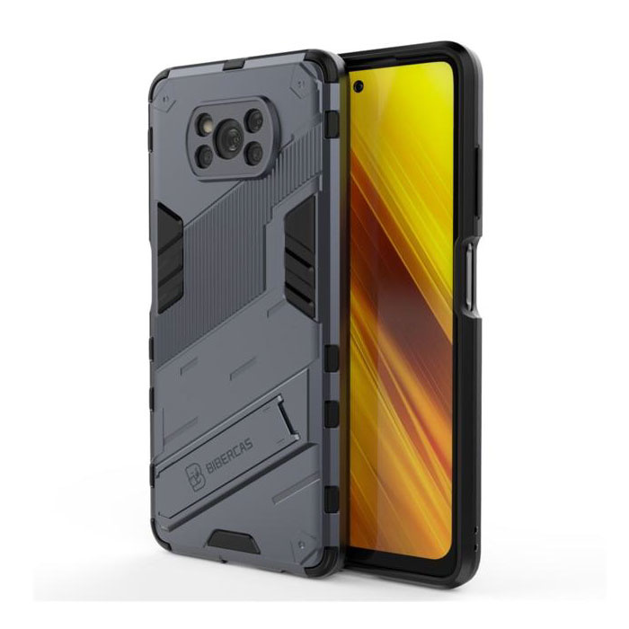 Xiaomi Mi 11 Pro Case with Kickstand - Shockproof Armor Case Cover TPU Gray