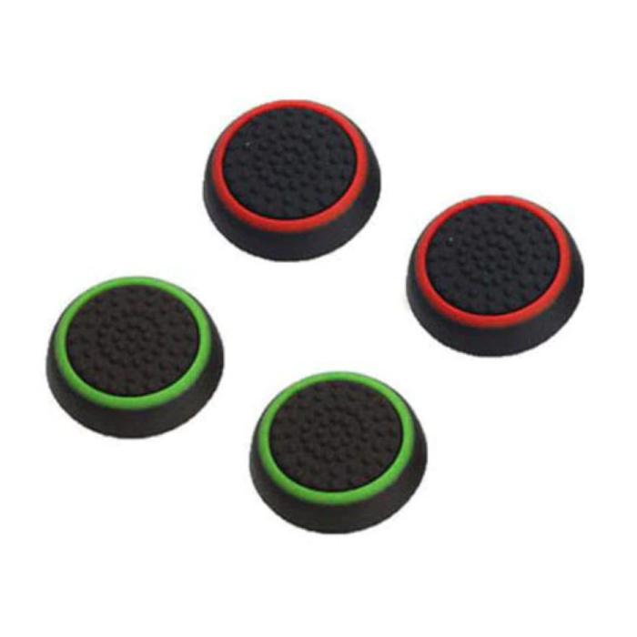 4 poignées de pouce pour manette de jeu PS3/PS4/Xbox 360/Xbox One - Capuchons de contrôleur antidérapants - Vert et rouge