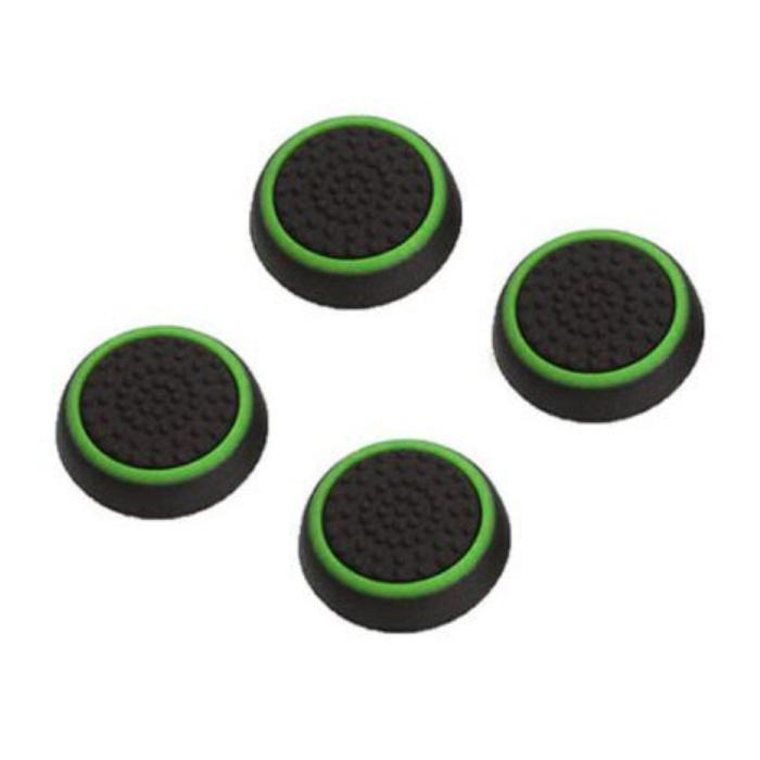4 Thumb Stick Grips voor PS3/PS4/Xbox 360/Xbox One Joystick - Antislip Controller Caps - Groen