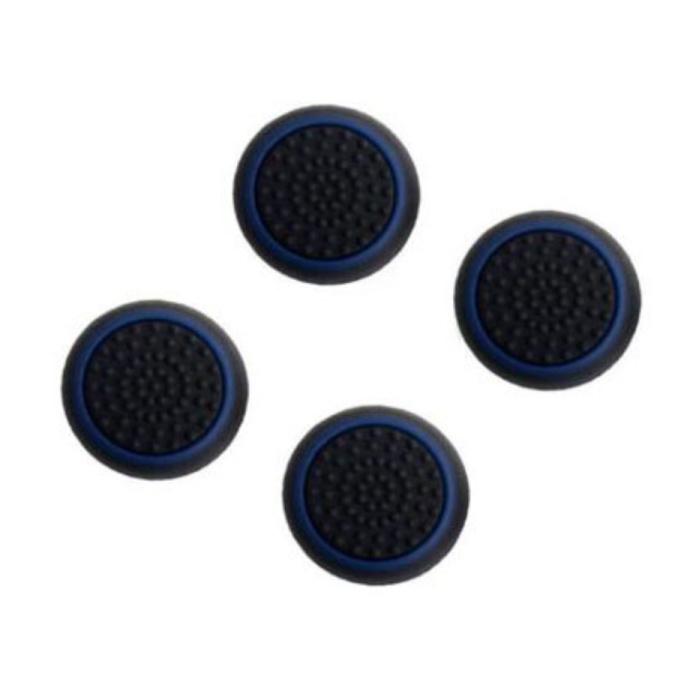 4 poignées de pouce pour manette PS3/PS4/Xbox 360/Xbox One - Capuchons de contrôleur antidérapants - Bleu