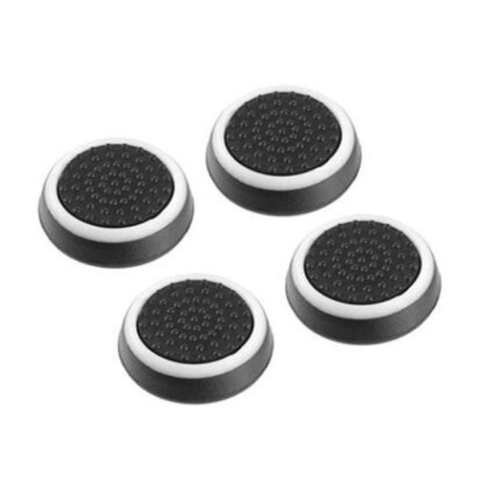 4 Thumb Stick Grips for PS3/PS4/Xbox 360/Xbox One Joystick - Non-Slip Controller Caps - White