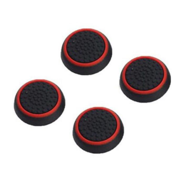 4 poignées de pouce pour manette PS3/PS4/Xbox 360/Xbox One - Capuchons de contrôleur antidérapants - Rouge