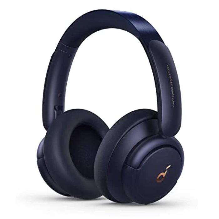 Casque d'écoute sans fil Life Q30 - Casque d'écoute sans fil Bluetooth 5.0 ANC Stéréo Studio Bleu