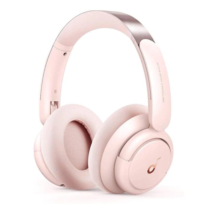 Casque d'écoute sans fil Life Q30 - Casque d'écoute sans fil Bluetooth 5.0 ANC Stéréo Studio Rose