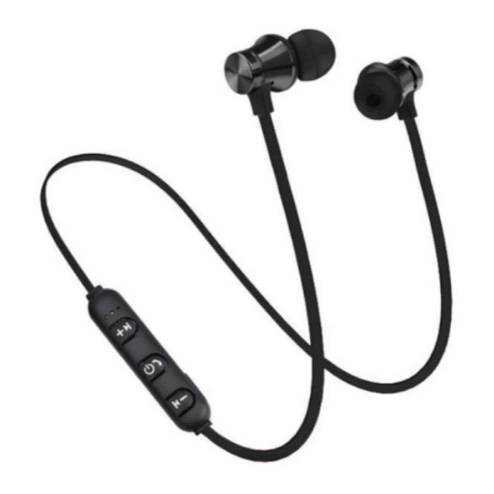 Draadloze Oortjes met Nekband Kabel - Oordopjes TWS Bluetooth 4.2 Earphones Earbuds Oortelefoon Zwart