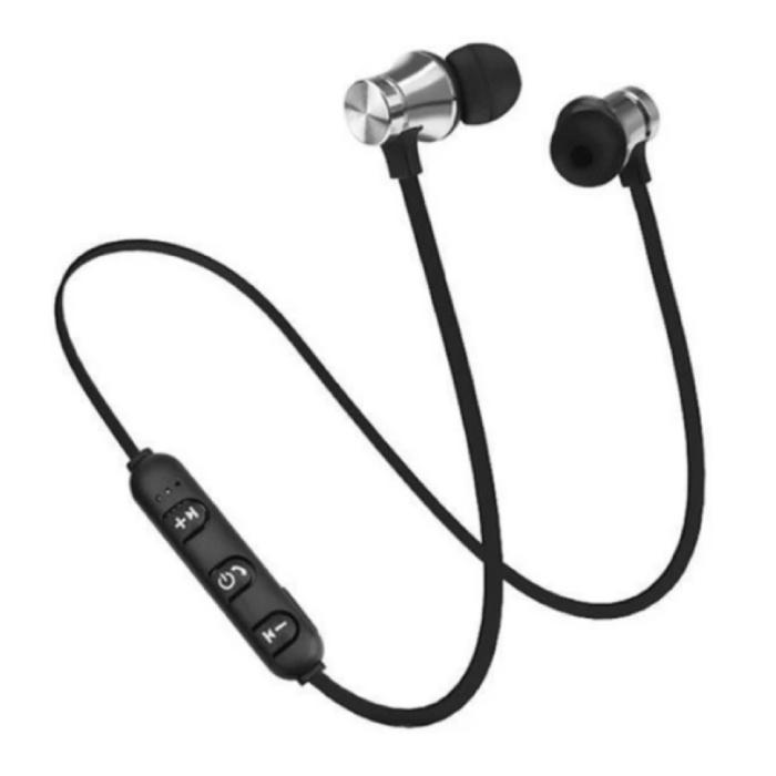 Draadloze Oortjes met Nekband Kabel - Oordopjes TWS Bluetooth 4.2 Earphones Earbuds Oortelefoon Zilver