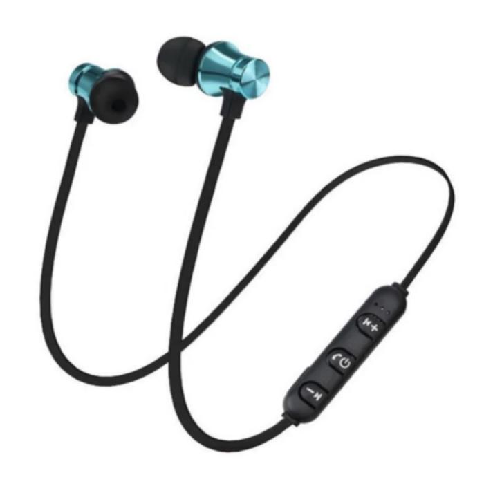 Draadloze Oortjes met Nekband Kabel - Oordopjes TWS Bluetooth 4.2 Earphones Earbuds Oortelefoon Blauw