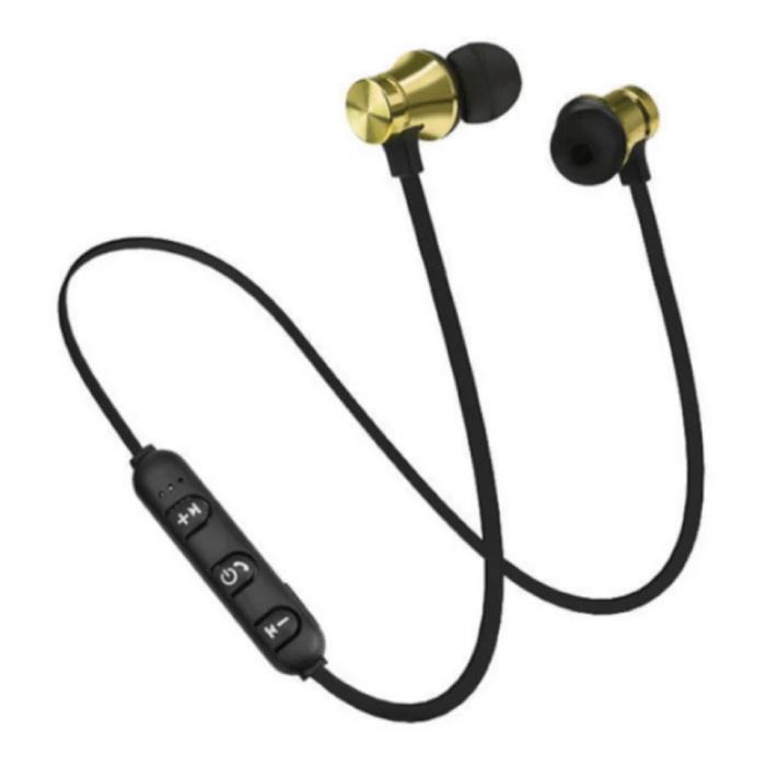 Draadloze Oortjes met Nekband Kabel - Oordopjes TWS Bluetooth 4.2 Earphones Earbuds Oortelefoon Geel