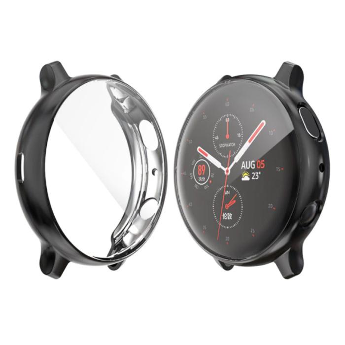 Coque Complète pour Samsung Galaxy Watch Active (39.5mm) - Coque et Protecteur d'Ecran - Coque Rigide TPU Noire