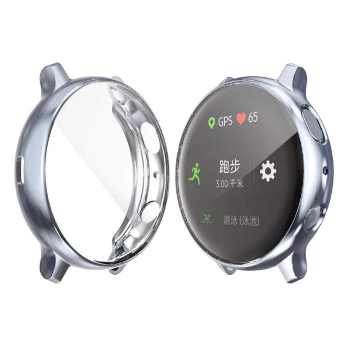 Coque Complète pour Samsung Galaxy Watch Active (39.5mm) - Coque et Protecteur d'Ecran - Coque Rigide TPU Grise