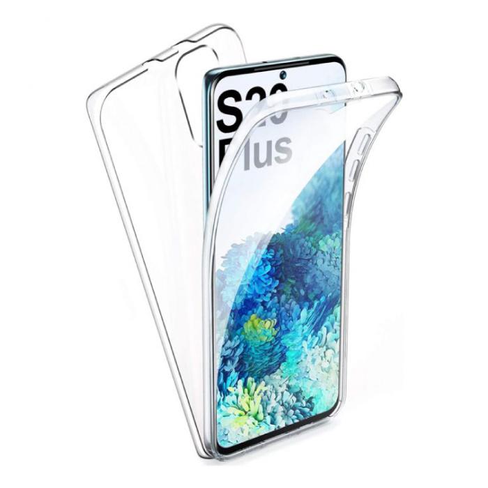 Samsung Galaxy S20 Plus Full Body 360° Hoesje - Volledige Bescherming Transparant TPU Silicone Case + PET Screenprotector