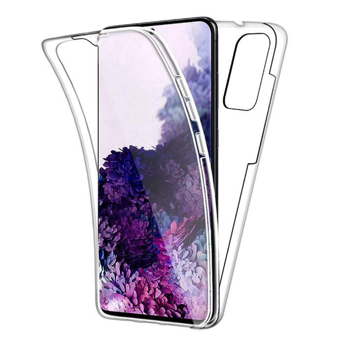 Samsung Galaxy S20 Ultra Full Body 360° Hoesje - Volledige Bescherming Transparant TPU Silicone Case + PET Screenprotector
