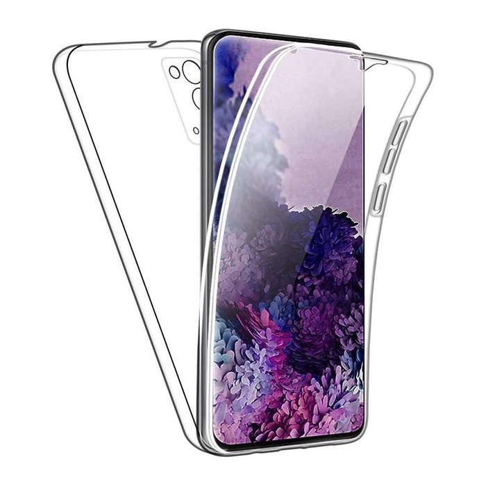 Samsung Galaxy S20 FE Full Body 360° Hoesje - Volledige Bescherming Transparant TPU Silicone Case + PET Screenprotector
