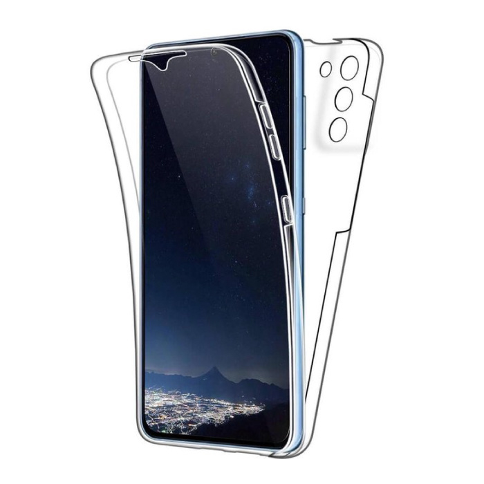 Samsung Galaxy S21 Plus Full Body 360° Hoesje - Volledige Bescherming Transparant TPU Silicone Case + PET Screenprotector