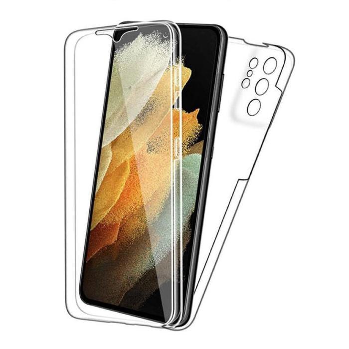 Samsung Galaxy S21 Ultra Full Body 360° Hoesje - Volledige Bescherming Transparant TPU Silicone Case + PET Screenprotector