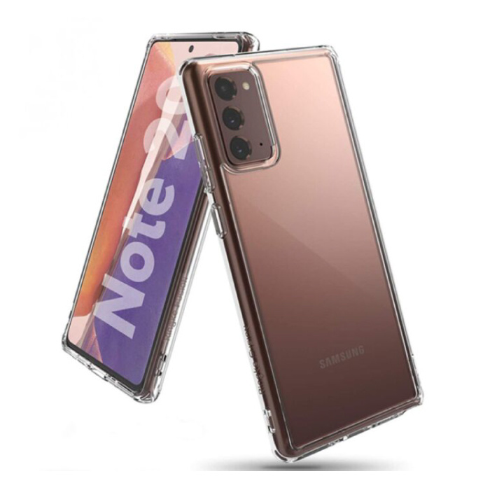 Samsung Galaxy Note 20 Full Body 360° Hoesje - Volledige Bescherming Transparant TPU Silicone Case + PET Screenprotector