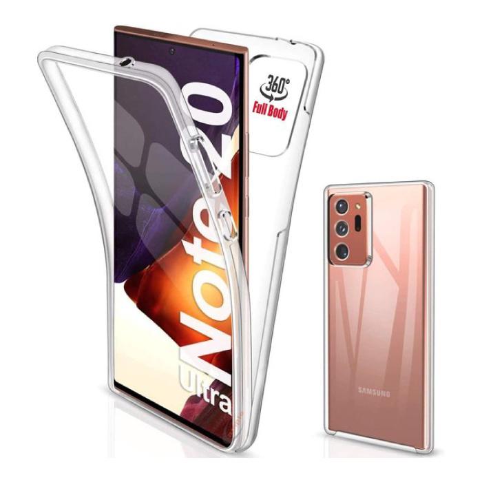 Samsung Galaxy Note 20 Ultra Full Body 360° Hoesje - Volledige Bescherming Transparant TPU Silicone Case + PET Screenprotector