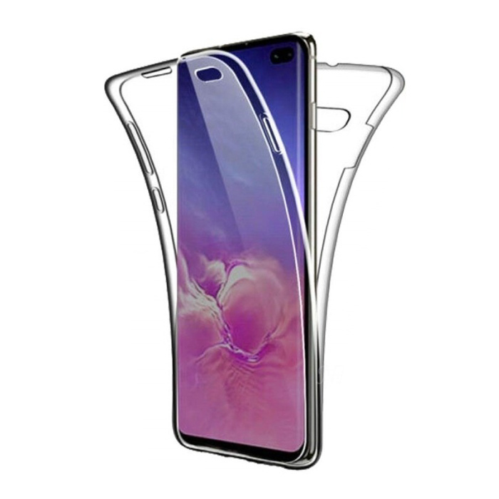 Samsung Galaxy A21 Full Body 360° Hoesje - Volledige Bescherming Transparant TPU Silicone Case + PET Screenprotector