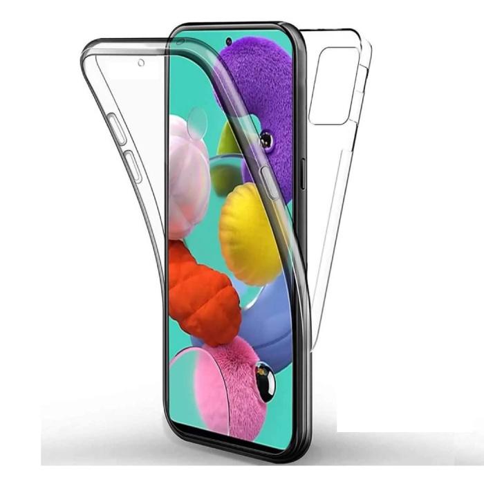Samsung Galaxy A41 Full Body 360° Hoesje - Volledige Bescherming Transparant TPU Silicone Case + PET Screenprotector