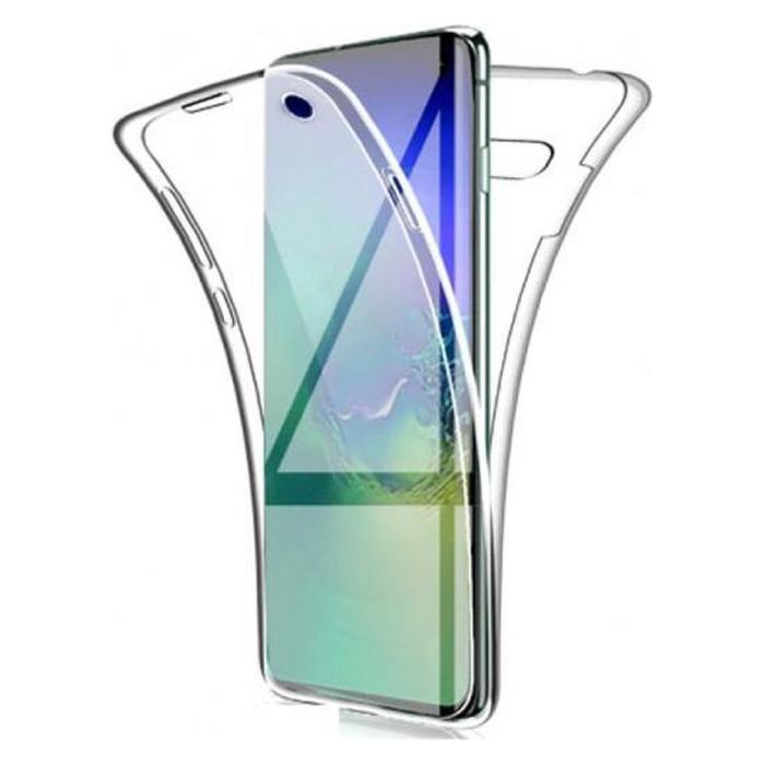 Samsung Galaxy A71 Full Body 360° Hoesje - Volledige Bescherming Transparant TPU Silicone Case + PET Screenprotector