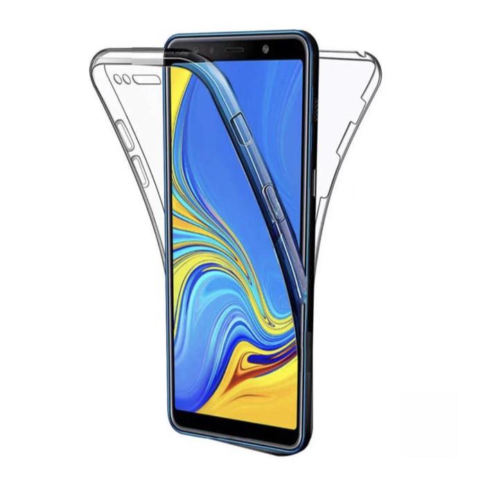 Samsung Galaxy A30S Full Body 360° Hoesje - Volledige Bescherming Transparant TPU Silicone Case + PET Screenprotector