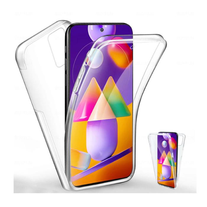 Samsung Galaxy M31 Full Body 360° Hoesje - Volledige Bescherming Transparant TPU Silicone Case + PET Screenprotector