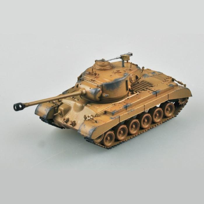1:72 M-26 Pershing Build Kit - US Army Tank Plastic Hobby DIY Model 36601